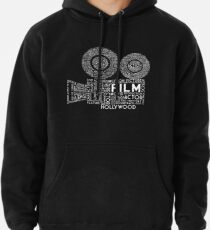Film Camera Typography - White Pullover Hoodie