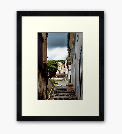 Up An Alley Framed Print