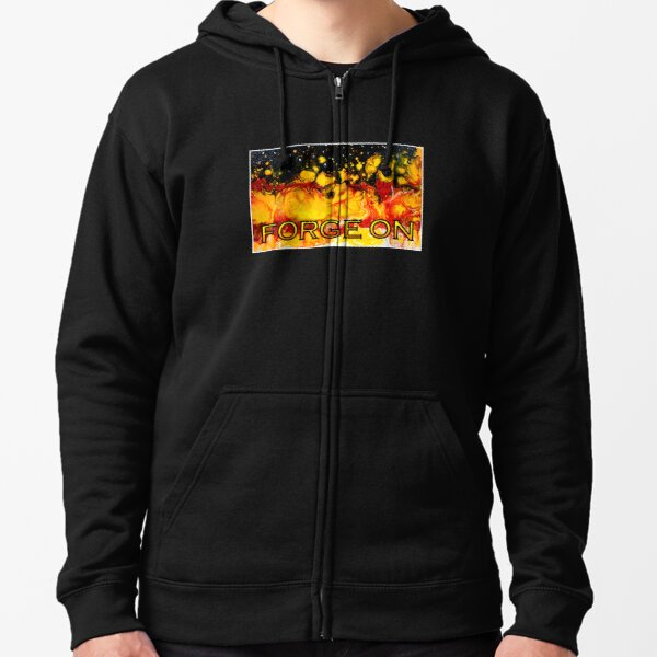 Forge On Zipped Hoodie