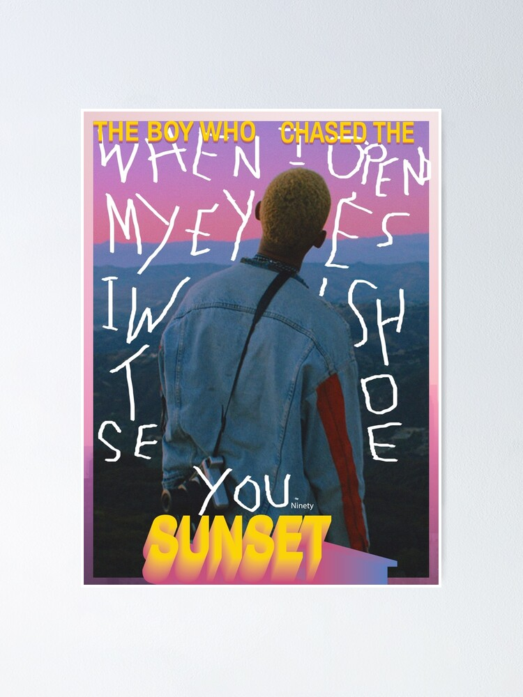 Alternate view of The Boy Who Chased The Sunset - Thoughts Poster