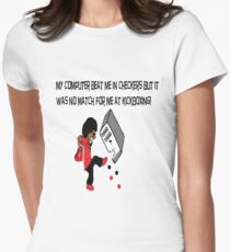 Computer beat me in Checkers Women's Fitted T-Shirt