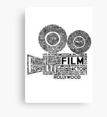 Film Kamera Typografie - Schwarz Leinwanddruck