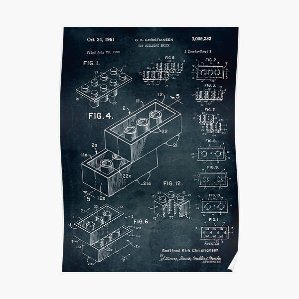 1958 Toy Building Brick Poster
