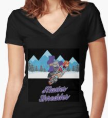 Master Shredder Women's Fitted V-Neck T-Shirt