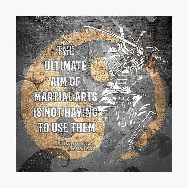 Miyamoto Musashi Samurai Martial arts Wisdom  Photographic Print