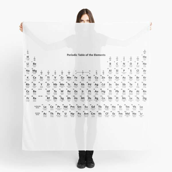 The Periodic Table of the Elements #Periodic #Table #PeriodicTable #Elements #ThePeriodicTableoftheElements #PeriodicTableOfElements  Scarf