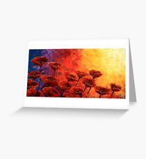 Heavenly Poppies Greeting Card