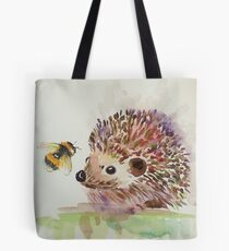 Hedgehog and Bumble bee  Tote Bag