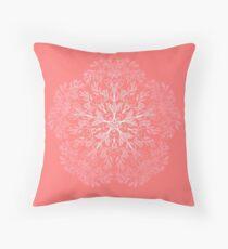 cherry blossom mandala- Coral sakura Floor Pillow