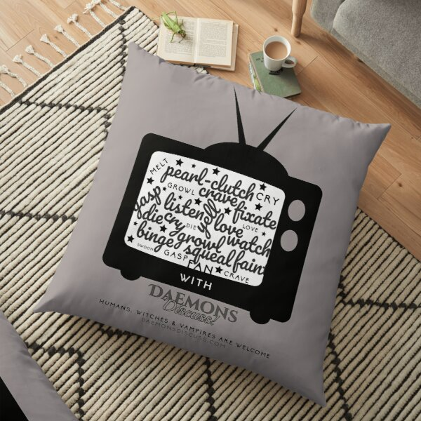 'Creature Binge Watch' for those who aren't fans of black clothing ... (why?!) Floor Pillow