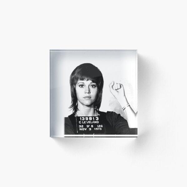 Jane Fonda Power Mugshot Bloque acrílico