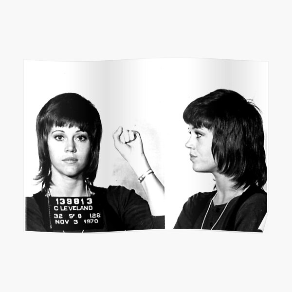 Jane Fonda Power Mugshot Poster