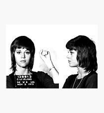 Jane Fonda Power Mugshot Photographic Print