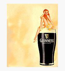 irish stout pinup girl Photographic Print