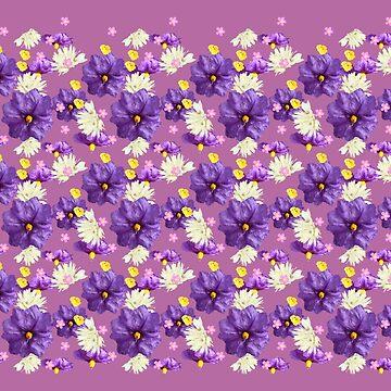 Purple Wildflower with Black Border by STHogan