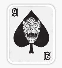 Ace of Spades Skateboard Sticker Horror Art Sticker