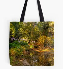 The bridge at Lavender Fields Cottage Tote Bag