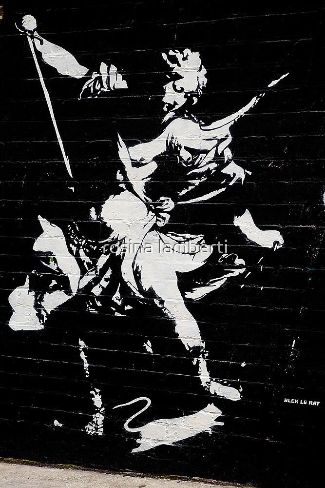 Graffiti by Blek Le Rat by Rosina  Lamberti