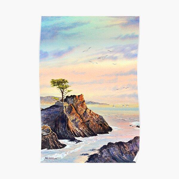 Lone Cypress Tree Pebble Beach California Poster