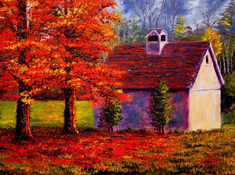 Connecticut Autumn Shed by sesillie