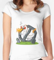 Cigarette - Monster Women's Fitted Scoop T-Shirt