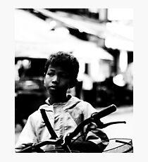 Street Kid Siem Reap Photographic Print