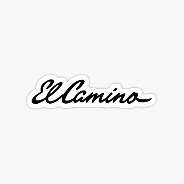 El Camino Script Sticker