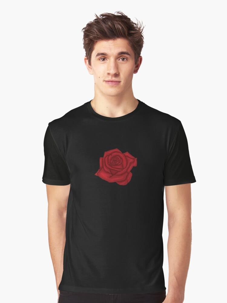 Red Black Rose Tshirt