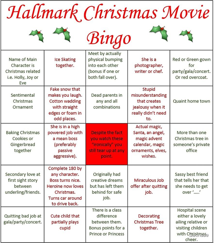 Hallmark Christmas Movie Bingo by Sachsse