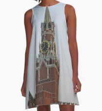 Spasskaya Tower, Moscow Kremlin #Spasskaya #Tower #Moscow #Kremlin #SpasskayaTower #MoscowKremlin A-Line Dress