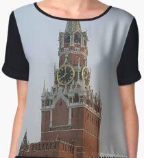 Spasskaya Tower, Moscow Kremlin #Spasskaya #Tower #Moscow #Kremlin #SpasskayaTower #MoscowKremlin Chiffon Top