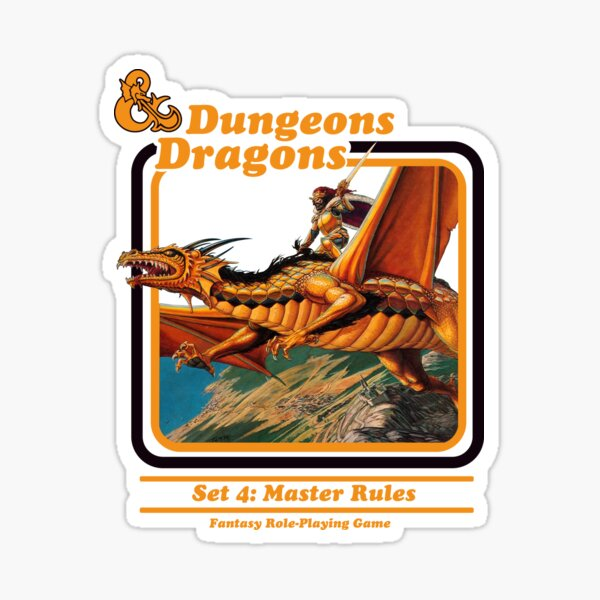 80's Dungeons & Dragons: Set 4 Master Rules Sticker