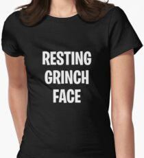 Resting Grinch Face  Women's Fitted T-Shirt