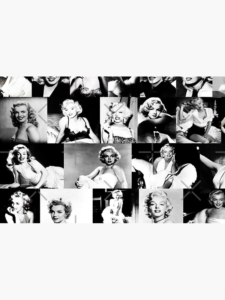 Black and White Marilyn Monroe Collage Vintage by StevenOlmos
