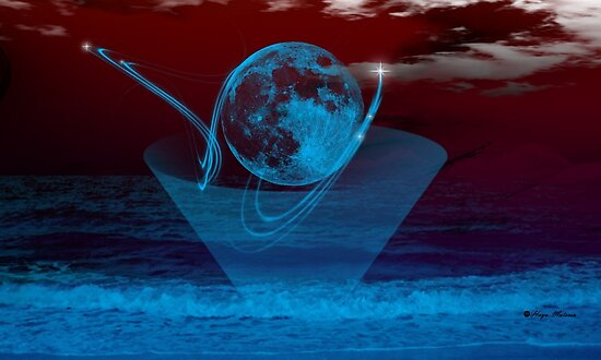 Blue Moon -  Art + Products Design  by haya1812