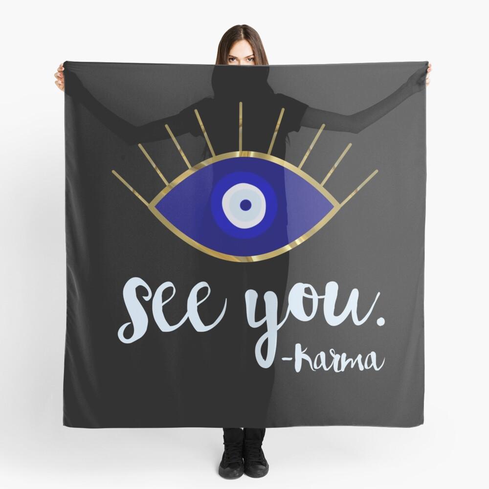 Evil Eye See You Karma Scarf