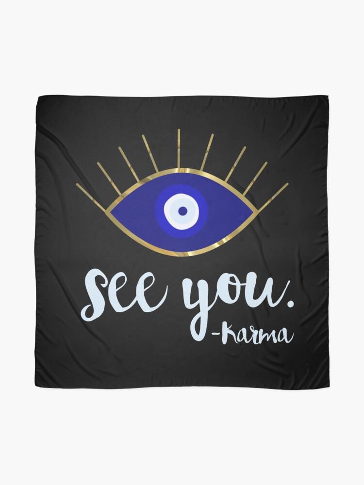 Alternate view of Evil Eye See You Karma Scarf