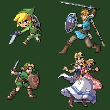Zelda & Link by MisterPixel