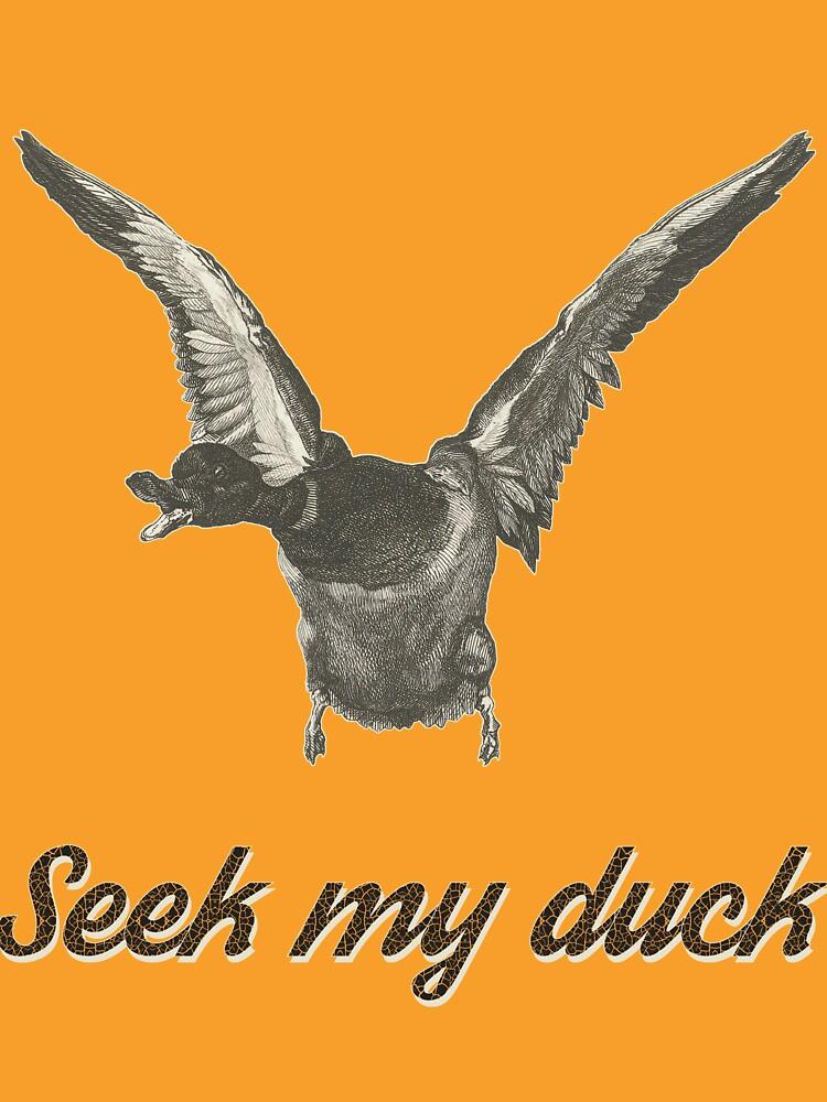 Seek my duck - engraving by Taudrood