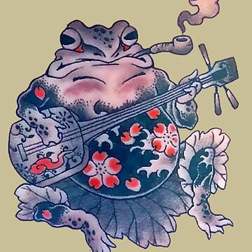 Smoking Frog Rocks Out by VictorIos