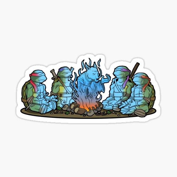 tmnt campfire Sticker