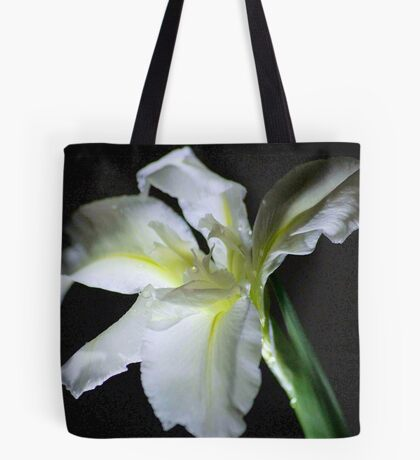 SIMPLICITY - THE WATER IRIS IN WHITE - WATER IRIS Tote Bag