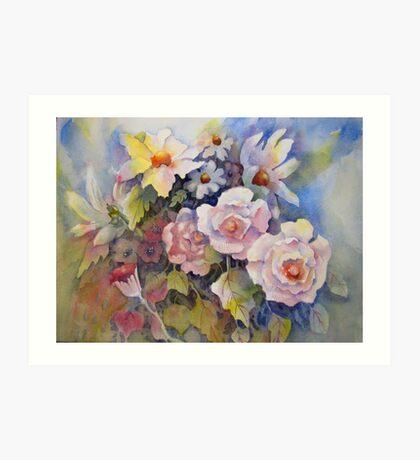 Mixed Floral Bouquet Art Print