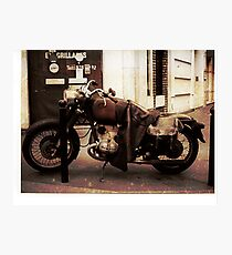 Motorcycle in Texico Photographic Print