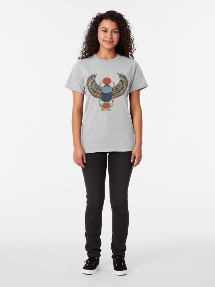Alternate view of Winged Heart Scarab Classic T-Shirt