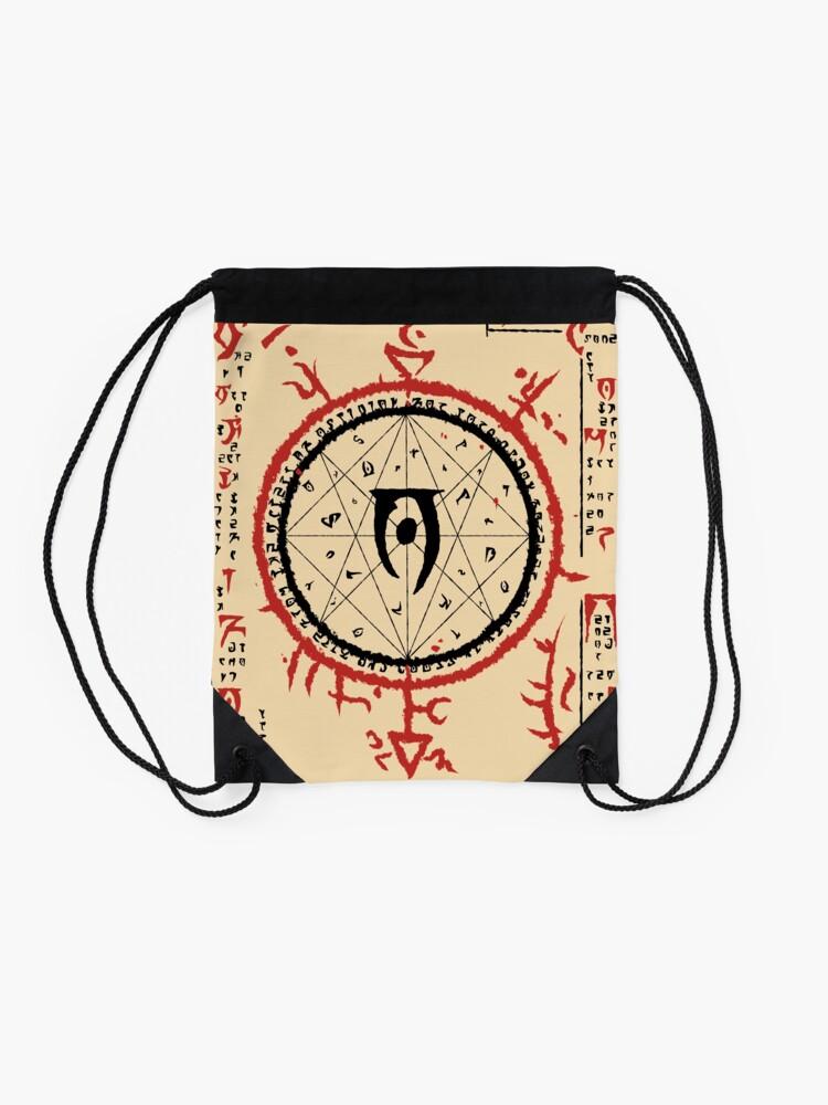 Alternate view of Mysterium Xarxes 1 Drawstring Bag