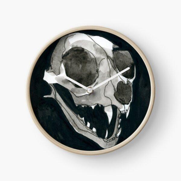 Cat Skull Clock