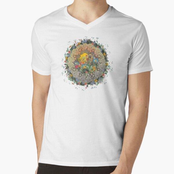 Botanic Globe V-Neck T-Shirt