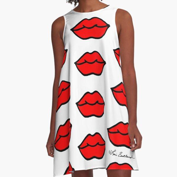 Lips! A-Line Dress