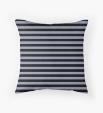 Cool Gray and Black Horizontal Stripes Floor Pillow